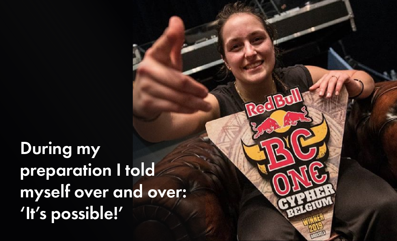 Bgirl Camine: about winning the Red Bull BC one Belgium Cypher, her crew Battle Droids and her ambitions for the Future